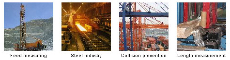 Feed measuring, Steel industry, Collision prevention, Length measurement